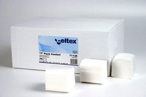 Celtex Hajtogatott Wc papír 2 rtg.100% cell., T Pack Comfort, 11×21, 40×225