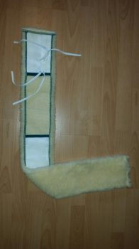 Mikroszálas V moppár 100 cm sárga